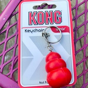 Kong Gear Mini Red Kong Keychain. NOT FOR PETS!